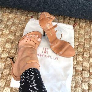 1282737214c Tamara Mellon Frontline 105 Strappy Sandal. Tamara Mellon Frontline 105  Strappy Sandal.  220  395. Tamara Mellon tiger 105 heels 39 burgundy patent